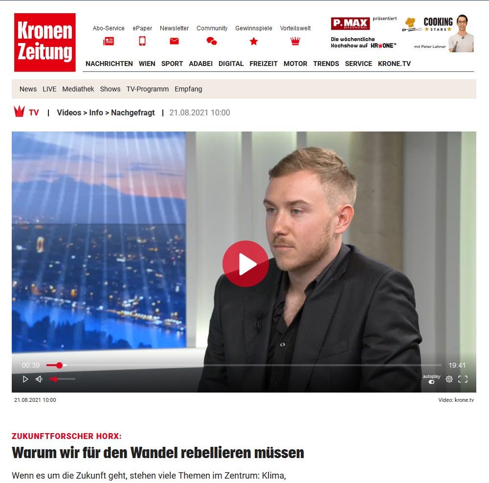 Kronen Zeitung - Warum wir für den Wandel rebellieren müssen