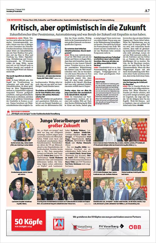 Vorarlberger Nachrichten: Kritsch, aber optimistisch in die Zukunft