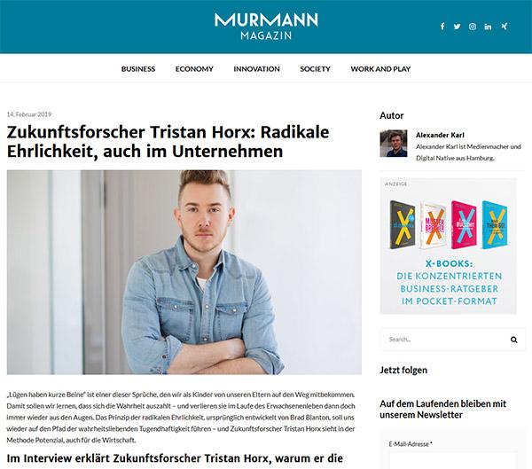 Murmann Magazin: Radikale Ehrlichkeit