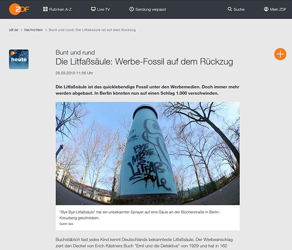 ZDF heute: Die Litfaßsäle