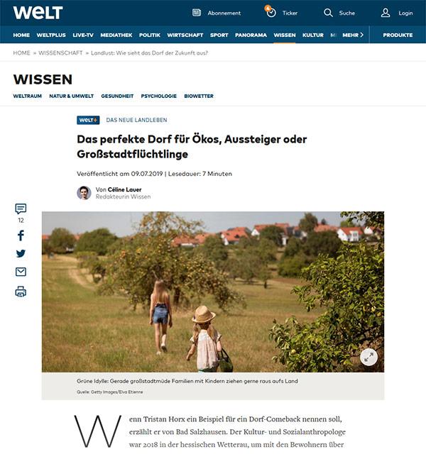 Das perfekte Dorf für Großstadtflüchtlinge