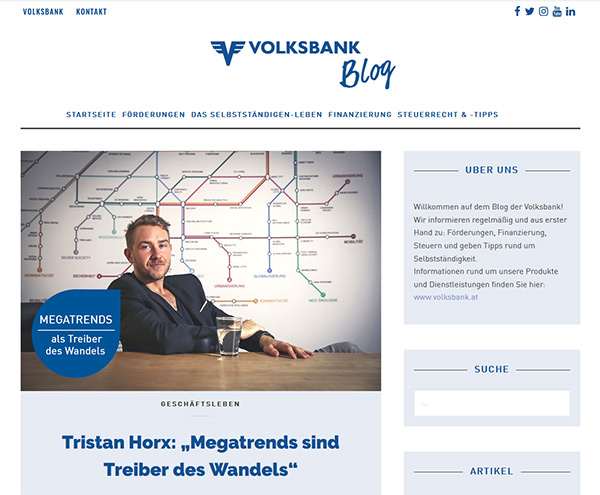 Volksbank-Blog: Tristan Horx
