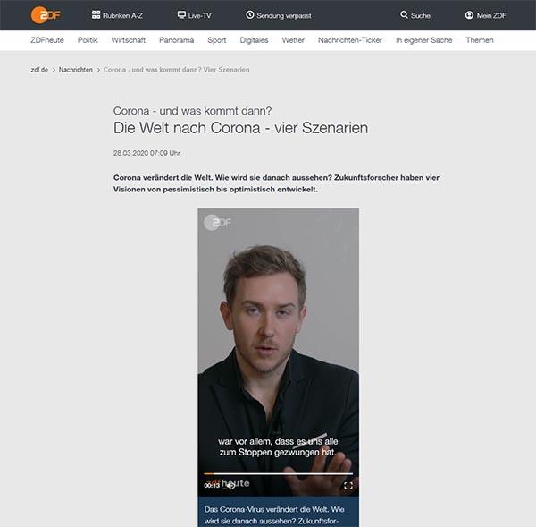 ZDF - Die Welt nach Corona - 4 Szenarien