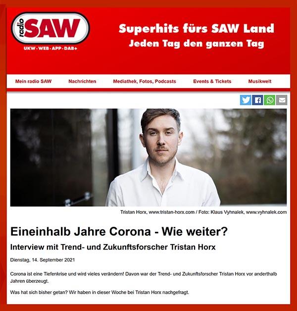 radio SAW: Eineinhalb Jahre Corona - wie weiter?